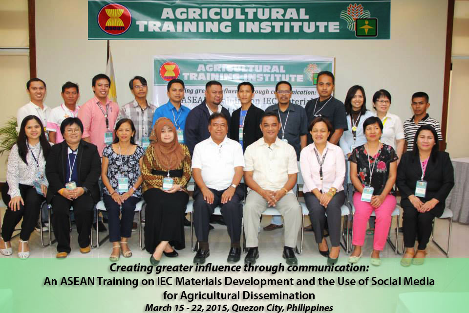 Participants & Training Management Team of the ASEAN Training on IEC Materials Development