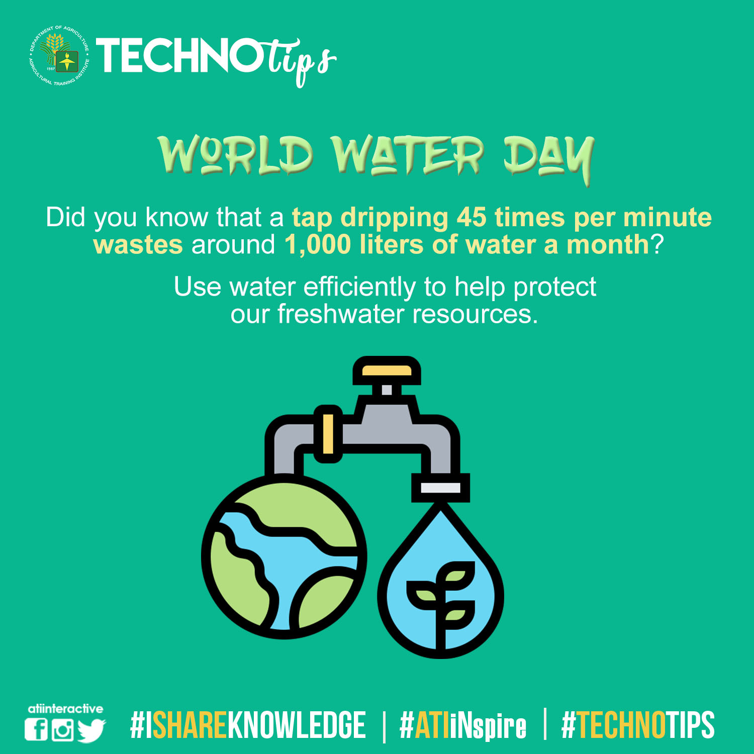 Technotips: World Water Day
